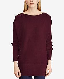 Lauren Ralph Lauren Button-Shoulder Sweater