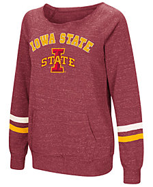 Colosseum Women's Iowa State Cyclones Off the Shoulder Fleece Sweatshirt