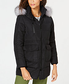 Marc New York Fox-Fur-Trim Hooded Down Parka