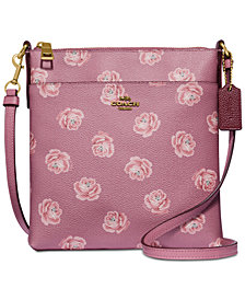 COACH Rose-Print  Messenger Crossbody