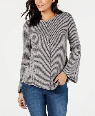 Style Co Ribbed And Cabled Fitted Sweater Created For Macys