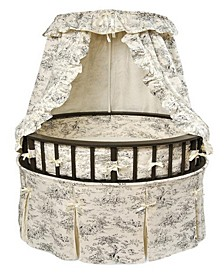 Round Baby Bassinet With Canopy