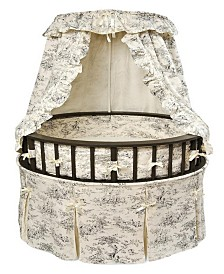 Elegance Round Baby Bassinet With Canopy