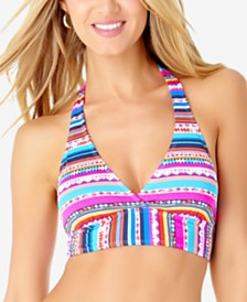 Anne Cole Printed Marilyn Halter Bikini Top