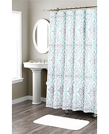 Nicole Miller Laurel Printed Spring Shower Curtain