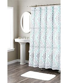 Nicole Miller Laurel Printed Spring Cotton Shower Curtain
