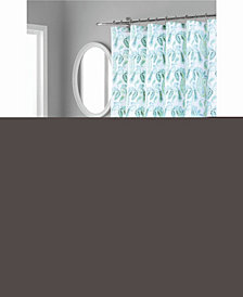 Nicole Miller Piper Printed Spring Cotton Shower Curtain