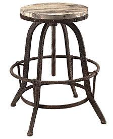 Collect Wood Top Bar Stool