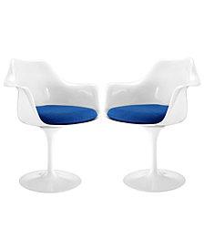 Modway Lippa Dining Armchair Set of 2