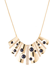 "Trina Turk 17"" Cut-Out Bib Necklace with Pave"