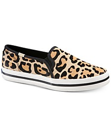 Women's Double Decker KS Leopard Pony Hair Sneakers