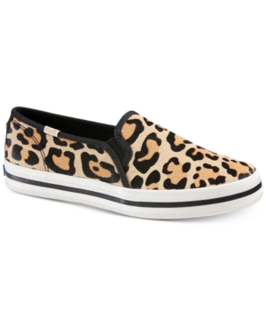 Keds X Kate Spade Double Decker Leopard Slip-on Sneakers