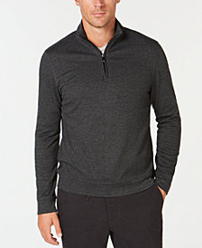 Tasso Elba Men's Quarter-Zip Pullover, Created for Macy's