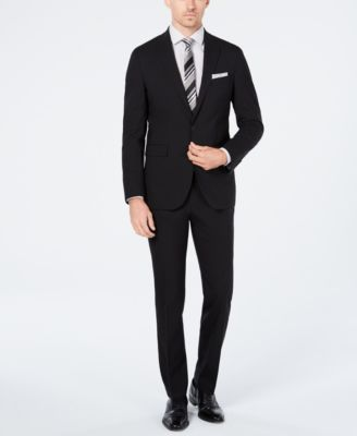 Men's Grand.OS Wearable Technology Slim-Fit Stretch Solid Suit Pants