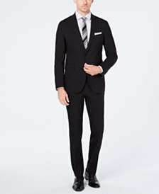 Cole Haan Men's Grand.OS Wearable Technology Slim-Fit Stretch Solid Suit Separates