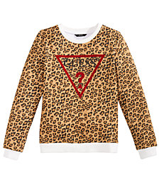 GUESS Big Girls Leopard-Print Sweatshirt