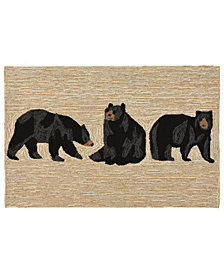Liora Manne Front Porch Indoor/Outdoor Bears Neutral Area Rugs