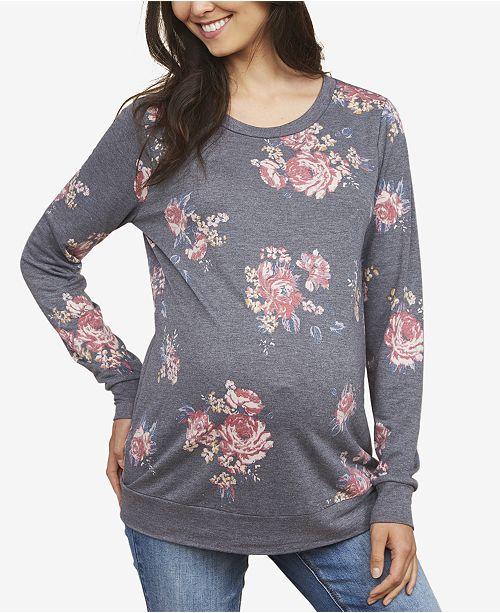 Motherhood Maternity Crew-Neck Sweatshirt