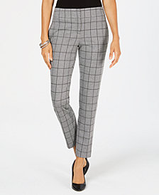 Kasper Plaid Pants, Regular & Petite