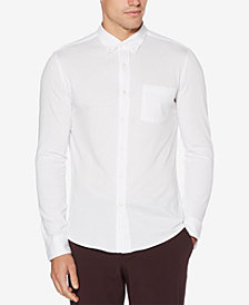 Perry Ellis Men's Piqué-Knit Pocket Shirt