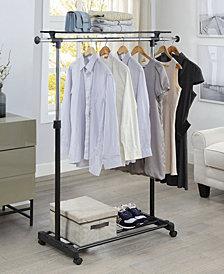 Organize it All Adjustable Garment Rack with Shelf