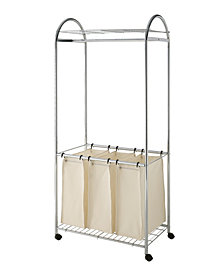 Organize it All Chrome Laundry Sorter with Canvas Bag