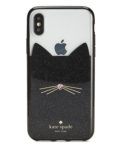 new product 8cb29 9ef5a kate spade new york Jeweled Glitter Cat iPhone X Case & Reviews ...