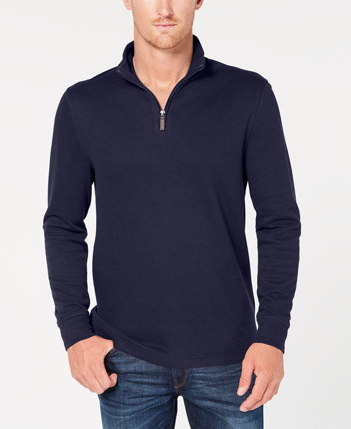 Club Room - Men's Quarter-Zip Pullover Sweater