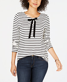 Charter Club Cotton Striped Top, Created for Macy's