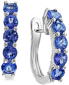 EFFY® Tanzanite Hoop Earrings (2-1/5 ct. t.w.) in Sterling Silver