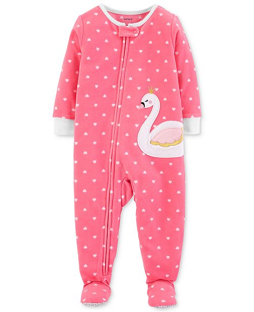 9d04f84ee6f1 Carter s Baby Girls Dot-Print Swan Footed Pajamas   Reviews ...