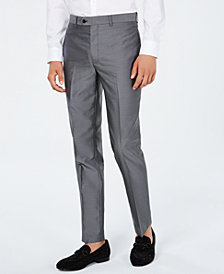 Tallia Men's Medallion Jacquard Flat-Front Slim-Fit Pants