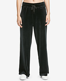 DKNY Sport Wide-Leg Velour Pants