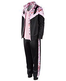 Ideology Big Girls Geo-Print Track Jacket, Layered-Look Top & Track Pants, Created for Macy's