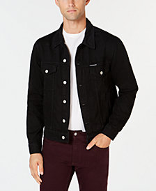 Calvin Klein Jeans Men's Classic-Fit Black Denim Trucker Jacket