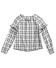Epic Threads Big Girls Plaid Top, Created for Macy's
