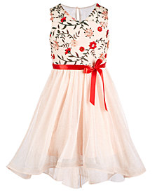 Sequin Hearts Big Girls Embroidered Party Dress