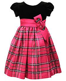 Jayne Copeland Little Girls Velvet Plaid Dress