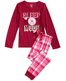 Max & Olivia Big Girls 2-Pc. Pajama Set