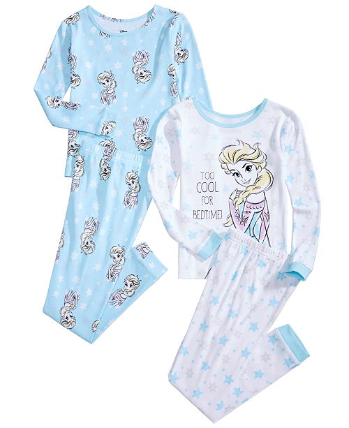 3a42bbaf1 Frozen Toddler & Little Girls 4-Pc. Disney's Frozen Elsa Pajama Set ...