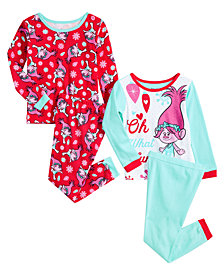 Trolls by DreamWorks Little & Big Girls 4-Pc. Pajama Set