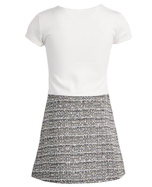 d443737cfc717 ... Blueberi Boulevard Little Girls 2-Pc. Tweed Coat & Dress ...