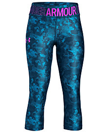 Under Armour Big Girls Printed Capri Leggings