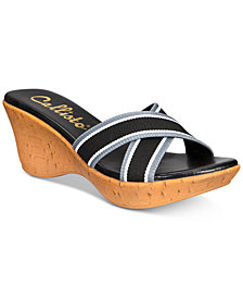 Callisto Segway Slide Platform Wedge Sandals
