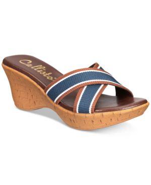 CALLISTO | Callisto Segway Slide Platform Wedge Sandals Women's Shoes | Goxip