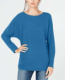 I.N.C. Dolman-Sleeve Ribbed-Knit Sweater, Created for Macy's