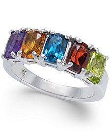 Multi-Gemstone Statement Ring (3-1/4 ct. t.w.) in Sterling Silver