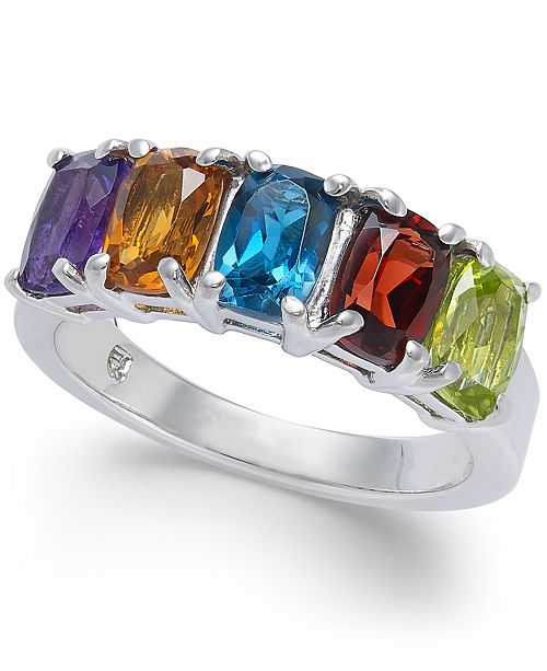 Macy's Multi-Gemstone Statement Ring (3-1/4 ct. t.w.) in Sterling Silver