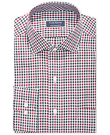 Club Room Men's Classic/Regular Fit Stretch Small Twill Multi Gingham Dress Shirt, Created for Macy's