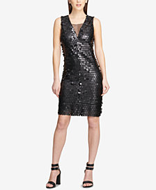 DKNY Sequined Sheath Dress, Created for Macy's